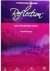 White Reflection 70 GSM A4 Paper, Packaging Size: 500 Sheets per pack, Size: 21.0 * 29.7