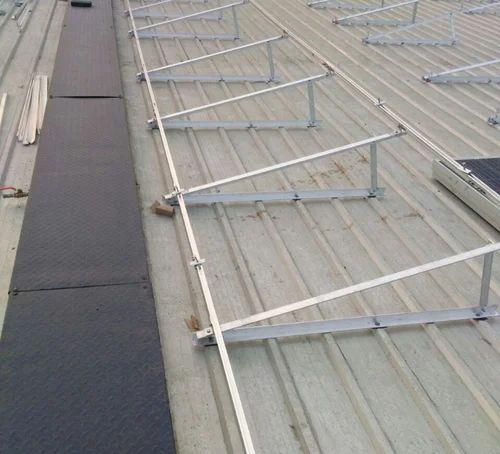 Aluminum Structure With Tilt Metal Roof Solar Module