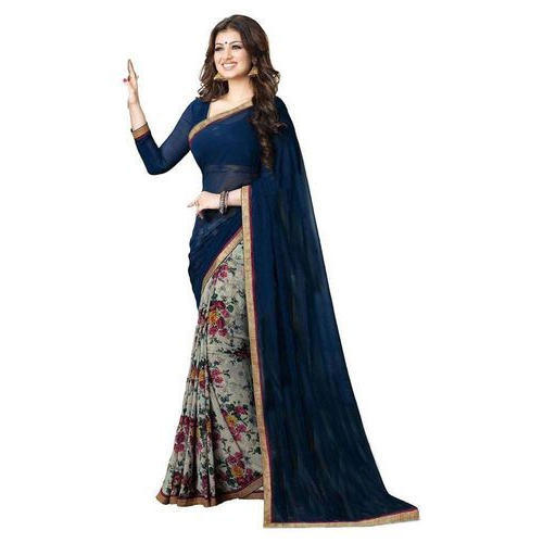 0ad7540056 Chiffon Multicolor Plain Sarees, Rs 850 /piece, Q N Collection   ID ...