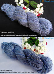 Recycled Sari Silk Yarn Solid Color