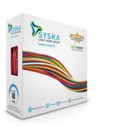 Copper Syska Wire, Size: 4mm