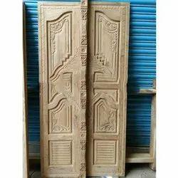 Teak Wood Hinged Wooden Double Door