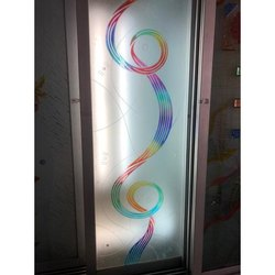 Printed Glossy Rectangular Designer Glass, Thickness: 5-20 Mm