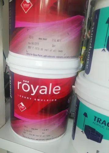 Asian Paints High Sheen Royale Luxury Emulsion, For Interior Walls, Packaging Size: 4 Lt