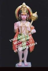Hanuman Coloured marble Murti