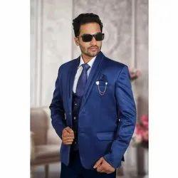 Plain Men Royal Blue Wedding Suits