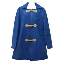 Wool Coat with Suede Closure