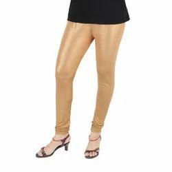 Ladies Designer Golden Shimmer Leggings