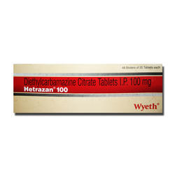 Hetrazan Tablets, 100 Mg, Packaging Size: Box