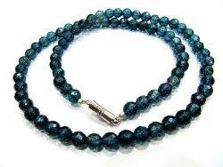 Natural London Blue Topaz Beaded Necklace