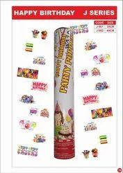 HAPPY BIRTHDAY PARTY POPPER