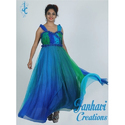 Ladies Multi Color Western Gown, Size: S-xl
