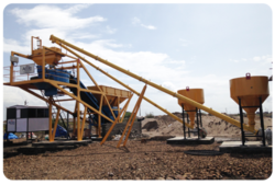 Compact Construction Grade Concrete Batching Plant