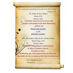 Invitation card in hyderabad telangana manufacturers suppliers wedding invitation card stopboris Gallery