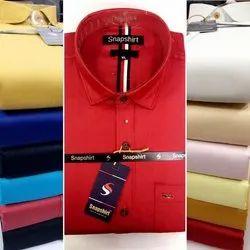 Snapshirt Full Sleeves Mens Slim Fit Plain Shirt