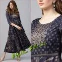 Anarkali Style Juniper Fancy Kurti