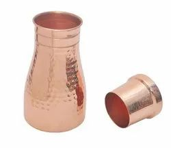 Hammered Cylindrical Copper Sugar Pot, For Home