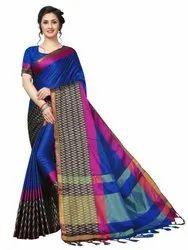 Zig Zag Concept Cotton Silk Saree