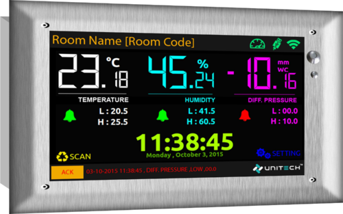 Clean Room Indicator Monitor - Temperature, Humidity, Dp at Rs 25000