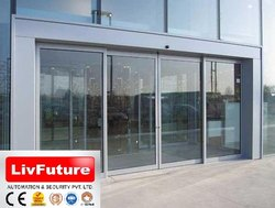 Transparent Glass Automatic Doors for Office
