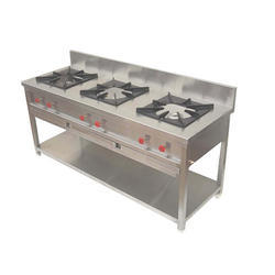 Stainless Steel 3 Three Burner Cooking Range