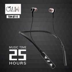 Black Foldable QTH Wireless & Normal Earphones