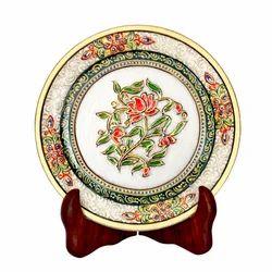Marble Plate Meenakari Boota 6 inch