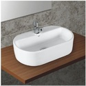 Wall Mounted Plain Table Top Basin, Shape: Rectangular