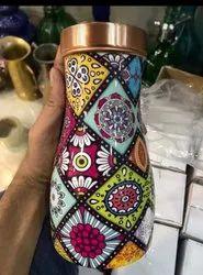 Meena Printed Copper Bedroon Bottle