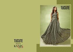 Karma Trendz Tu Cute Series 17001-17008 Stylish Party Wear Satin Gown