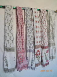 Hand Block Printed Stole Cotton Stole New Print