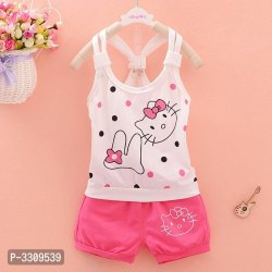 Girl's Summer Lovely Cat Vest Set