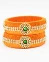 Orange Silk Thread Bangle