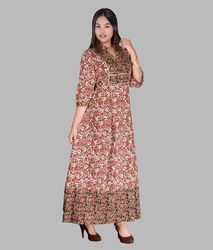 Printed Full Length Dress