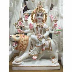 Goddess Durga Marble Statue
