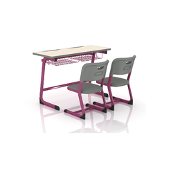 Two Seater Desk And Single Chair