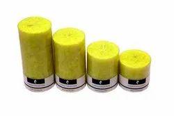 Lemon Grass Scented Pillar Candle Set