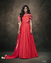 Alluring Tapeta Silk Embroidered Party Wear Gowns
