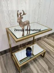 Zincopp Gold Side Table, Size: 16 Inches