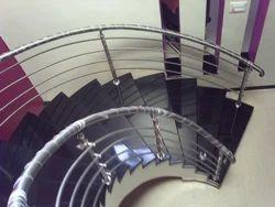 Modern SS Spiral Railing