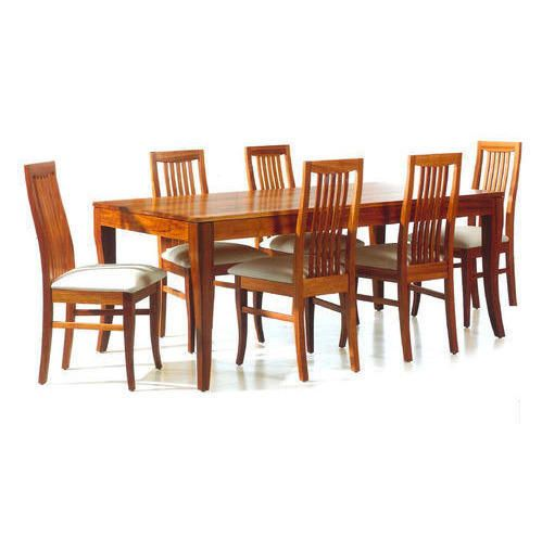 6 Seater Sagwan Wood Dining Set