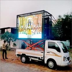 LED Video Wall Van, For Mobile Advertising, Hydraulic