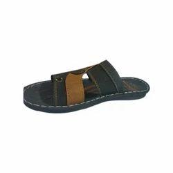 Men Tan Color Casual PU Slipper, Size: 6 - 10
