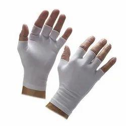White Lycra Half Finger Gloves
