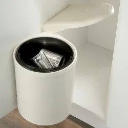 Round Plastic Kitchen Dustbin