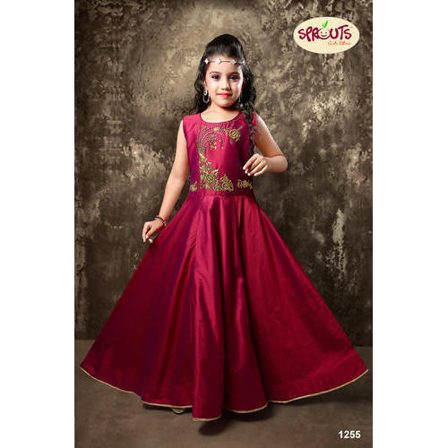 255d7d01a6 Cotton Wedding Wear Maroon Kids Gown, Size: Large, Rs 1595 /piece ...