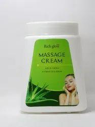 White Herbal Richglow Aloevera Massage Cream, Packaging Size: 800gm