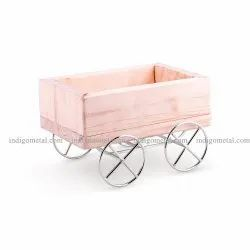 Wooden Table Caddy Cart Wheel For Restaurant