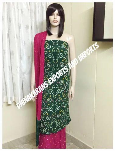4bc05b1c1e Bandhani Dress Material - Premium Bandhani Dress Materials ...
