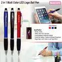 2 in one Multi LED Logo Ball Pen H-016